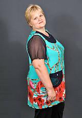 Туника Зиг-Заг батал 54-56, 58-60, 62-64. Женская одежда больших размеров, фото 3