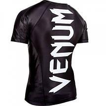 Рашгард Venum Giant rashguard - Black - short sleeves, фото 3