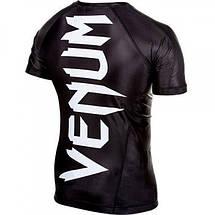 Рашгард Venum Giant rashguard - Black - short sleeves, фото 2