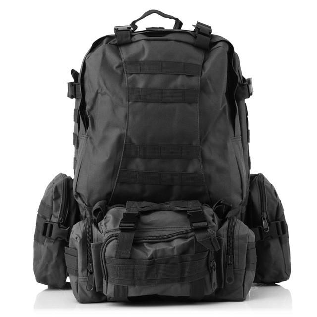 d3325f2ba3b1 Тактический рюкзак 50 литров с подсумками. Цвет - Черный. - Магазин  Амуниции в Киеве