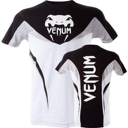 "Футболка Venum ""Shockwave 3"" T-Shirt - Black White, фото 2"