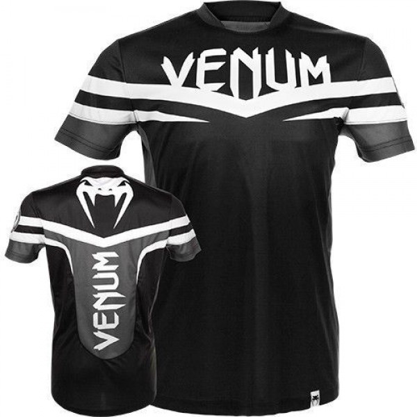 Футболка Venum - Sharp Dry Fit - Black & White