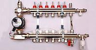 Коллектор LUXOR GTP для теплого пола в сборе на 4 контура