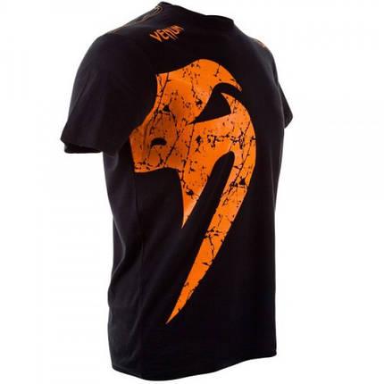 Футболка Venum Giant T-shirt Black Orange, фото 2