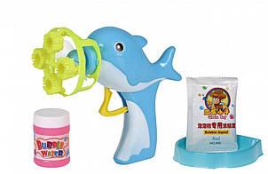 Мыльные пузыри Same Toy Bubble Gun Дельфин голубой 802Ut-1