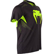 Футболка Venum Hurricane X Fit T-shirt - Black/Neo Yellow, фото 3