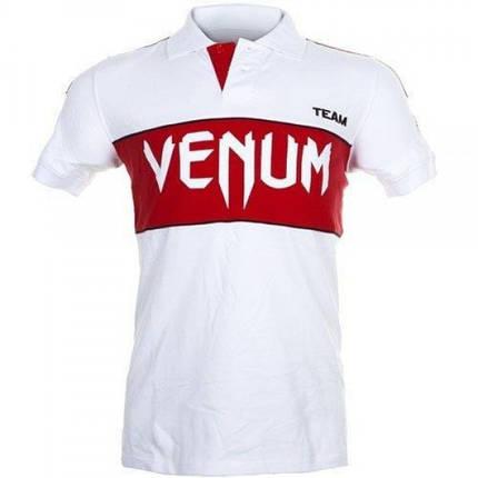 Футболка Venum Japan Team Polo - White/Red, фото 2