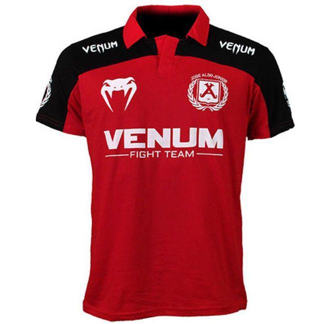 Футболка Venum Jose Aldo UFC 156 Polo - Red/Black