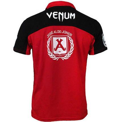 Футболка Venum Jose Aldo UFC 156 Polo - Red/Black, фото 2