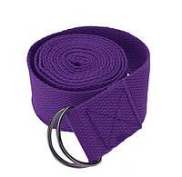 Ремень для йоги, длина 2.9 м, ширина 4 см, разн. цвета