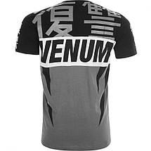 Футболка Venum Revenge T-Shirt Grey Black, фото 2