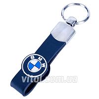 Брелок для ключей от авто BMW (Резин. рем.), размер М, с резиновым ремешком, брелок для автомобильных ключей, брелок с автомобильным лого
