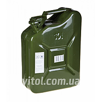 Канистра для топлива металлическая КМ-10, объем 10 литров, канистра в авто, канистра для бензина
