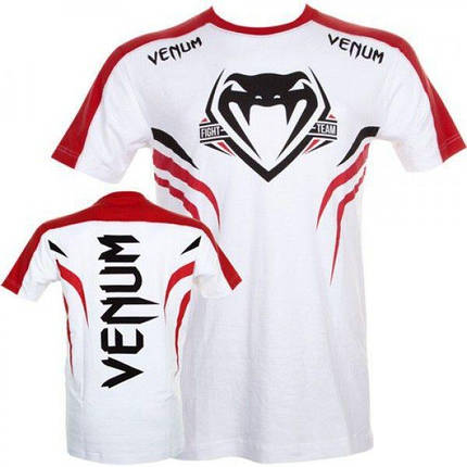 Футболка Venum Shockwave 2 T-shirt White-Red, фото 2