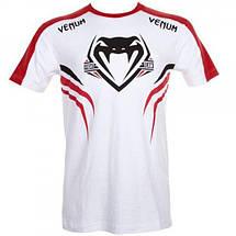 Футболка Venum Shockwave 2 T-shirt White-Red, фото 3