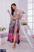 Парео S-1395 (42-54) — купить Пляжные туники оптом и в розницу в одессе 7км