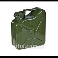 Канистра для топлива металлическая КМ-5, объем 5 литров, канистра в авто, канистра для бензина