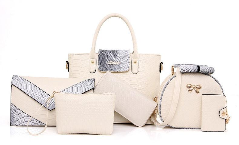 b4257f741a89 Женская сумка набор 6в1 бежевый из экокожи купить по выгодной цене в ...