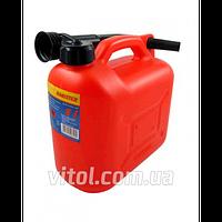 Канистра для топлива КП-05, пластиковая, объем 5 литров, канистра в авто, канистра для бензина