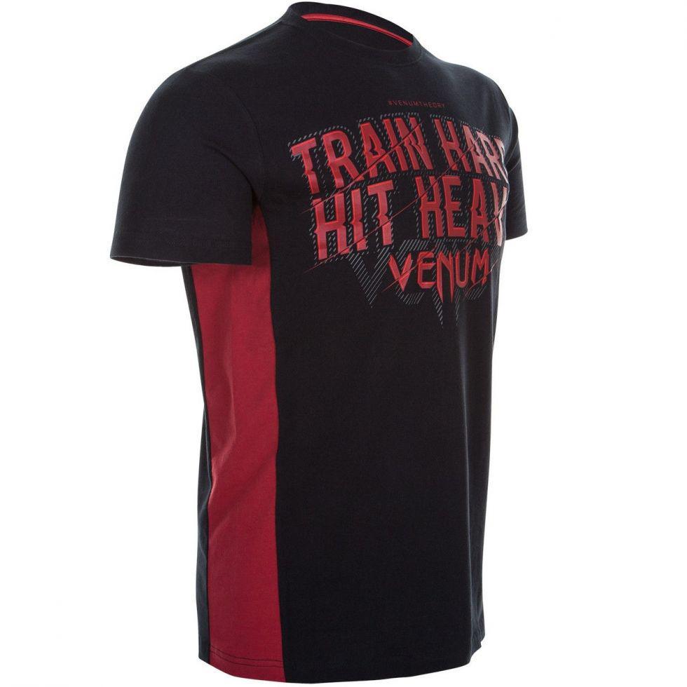 Футболка Venum Train Hard Hit Heavy T-Shirt Black