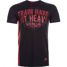 Футболка Venum Train Hard Hit Heavy T-Shirt Black, фото 2