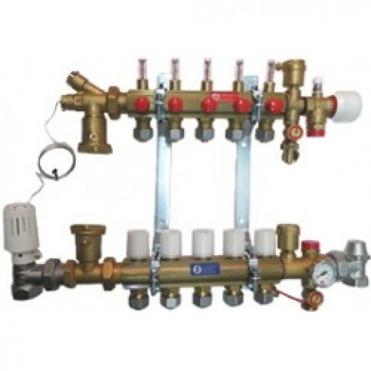 GIACOMINI Модульный коллекторный узел для систем отопления на 10 контуров Арт.R53