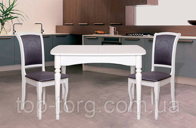 стол Поло белый коллекция Ультра, стол Кельн белый, маленький раскладной кухонный стол