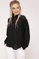 Блуза Джустина д/р, (2 цвета), черная блуза, нарядная блуза, дропшиппинг, фото 1