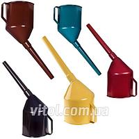 Лейка автомобильная для топлива Vitol ЛП-01, фильтр, производство Украина, пластик, лейка для бензина, воронка автомобильная, воронка для топлива