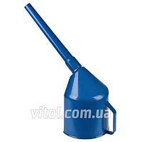 Лейка автомобильная для топлива Vitol (ЛП-00 синяя), фильтр, Украина, пластик, лейка для бензина, воронка автомобильная, воронка для топлива