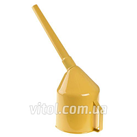 Лейка автомобильная для топлива Vitol ЛП-02, фильтр, Украина, желтая, пластик, лейка для бензина, воронка автомобильная, воронка для топлива