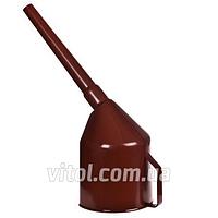 Лейка автомобильная для топлива Vitol ЛП-05, фильтр, производство Украина, коричневая, лейка для бензина, воронка автомобильная, воронка для топлива