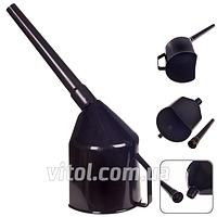 Лейка автомобильная для топлива Vitol ЛП-04, фильтр, Украина, черная, пластик, лейка для бензина, воронка автомобильная, воронка для топлива