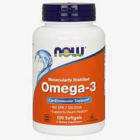 Жирные кислоты Now Foods Omega-3 (100 софтгель)
