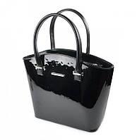 Женская лаковая сумка М64-лак чорн./Z, фото 1