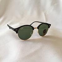 Солнцезащитные очки Ray Ban Clubround зеленый