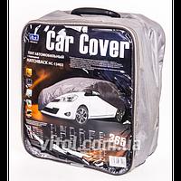Тент для автомобиля VITOL Hatchback HC13403, р-р 2XL, серый, Peva + Non Woven, карман для водительской двери 432х165х125 см, чехол автомобильный