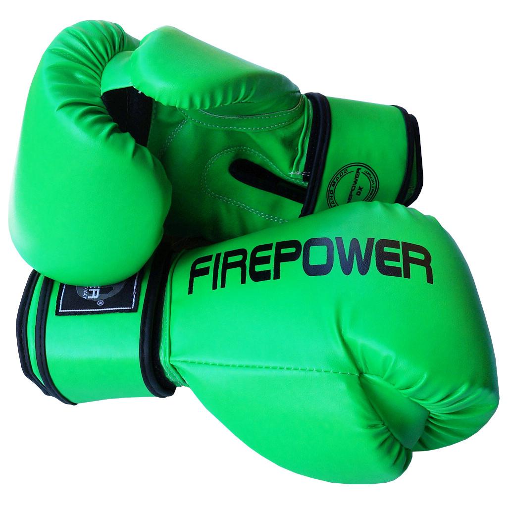 Боксерские перчатки Firepower FPBGA11 Салатовые