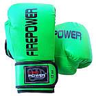 Боксерские перчатки Firepower FPBGA11 Салатовые, фото 4