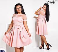 Платье S-1521 (48, 50, 52) — купить Платья XL+ оптом и в розницу в одессе 7км