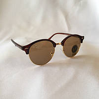 Солнцезащитные очки Ray Ban Clubround коричневый