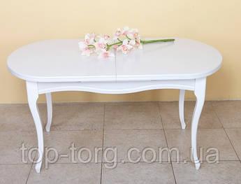 Стіл обідній Олівер, білий 1500(+500)*845мм розкладний