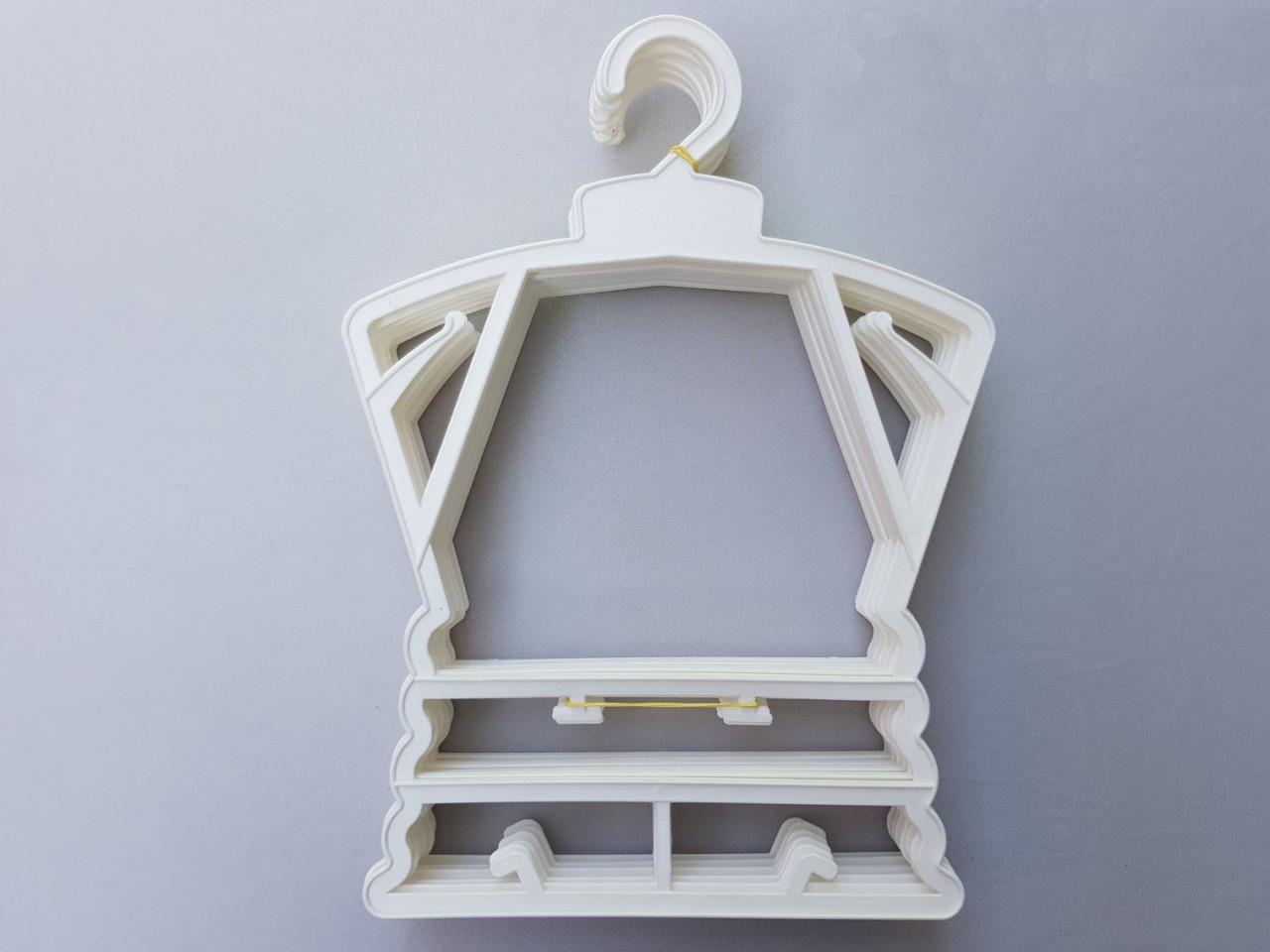 Плечики детские пластмассовые каркас Л-23 белые, 23 см, 10 штук в упаковке