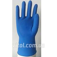 Перчатка латексная неопудренная Vitol LPF16-L (МНР015452), размер L, 50 штук в упаковке, перчатки рабочие, перчатки хозяйственные