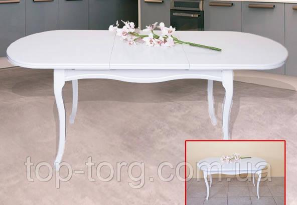 Стіл Олівер 1500(+500)*845мм Ультра білий Мікс Меблі, стіл Мадрид білий Модуль Люкс
