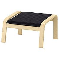 IKEA POANG Подставка для ног, окл березки, Черная черная  (492.446.57)