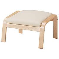 IKEA POANG Подставка для ног, блузы okl, Прочный Glose ecru  (098.305.41)