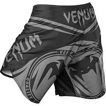 Шорты Venum Sharp Silver Arrow Fightshorts - Black/Silver, фото 3