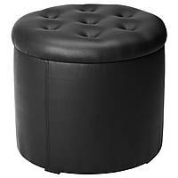 IKEA OMEDELBAR Пуф, черный  (603.941.79)