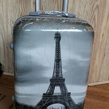 """Чемодан пластиковый """"Париж"""""""